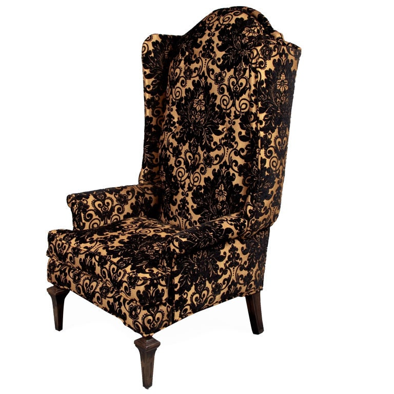 The Black And Gold Royale High Back Chair At 1stdibs