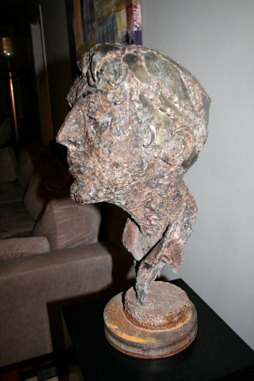 1950s Steel Sculpture of a Man's Head  2
