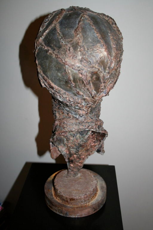 1950s Steel Sculpture of a Man's Head  3