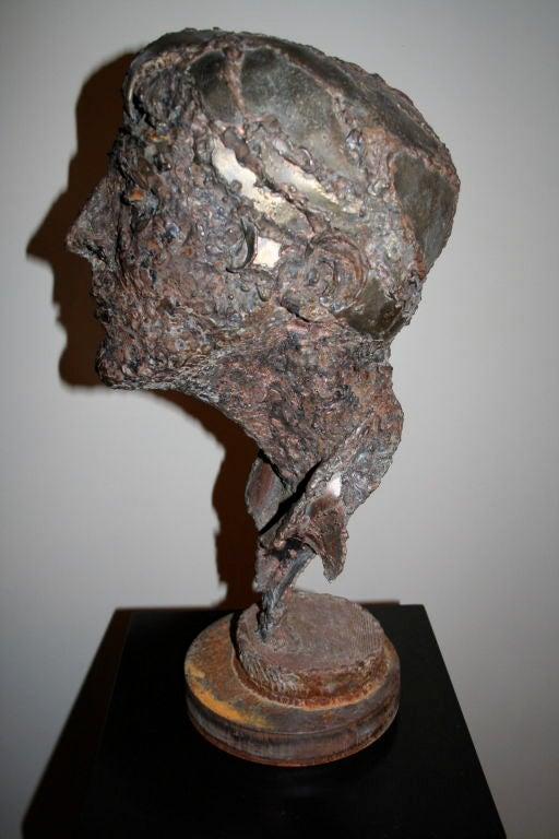 1950s Steel Sculpture of a Man's Head  4