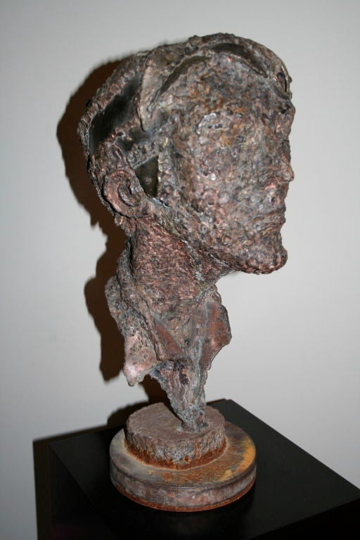 1950s Steel Sculpture of a Man's Head  5