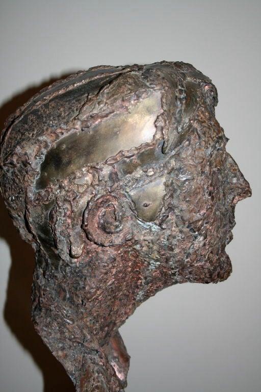 1950s Steel Sculpture of a Man's Head  7