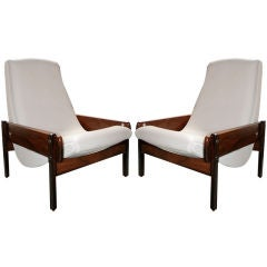 """Pair of """"Vronka"""" Armchairs by Sergio Rodrigues"""