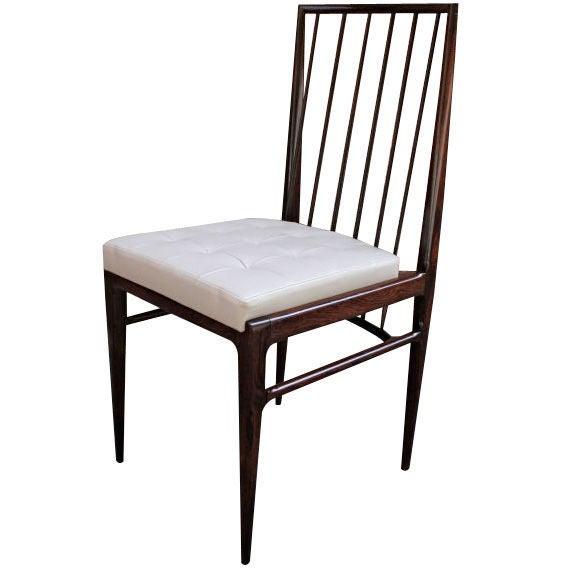 Set of Six 1940s Tenreiro Brazilian Jacaranda Dining Chairs For Sale