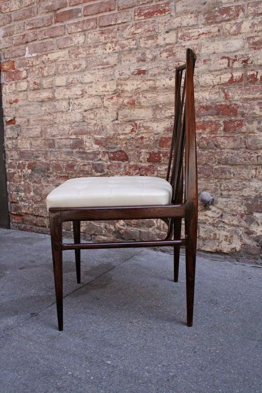 Mid-Century Modern Set of Six 1940s Tenreiro Brazilian Jacaranda Dining Chairs For Sale
