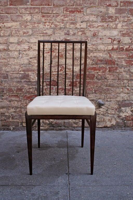 Mid-20th Century Set of Six 1940s Tenreiro Brazilian Jacaranda Dining Chairs For Sale