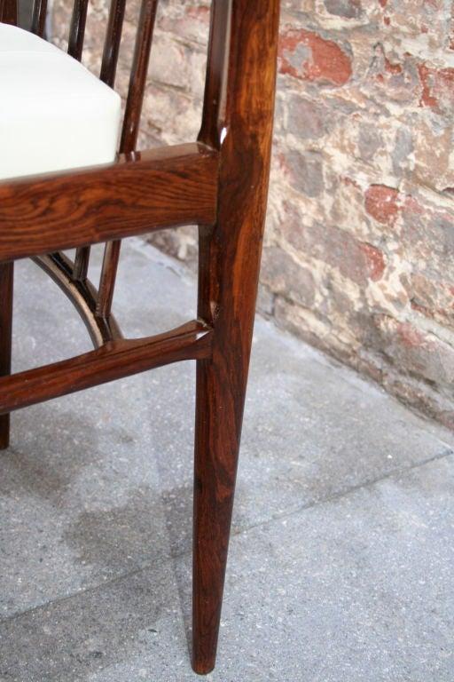 Set of Six 1940s Tenreiro Brazilian Jacaranda Dining Chairs For Sale 2