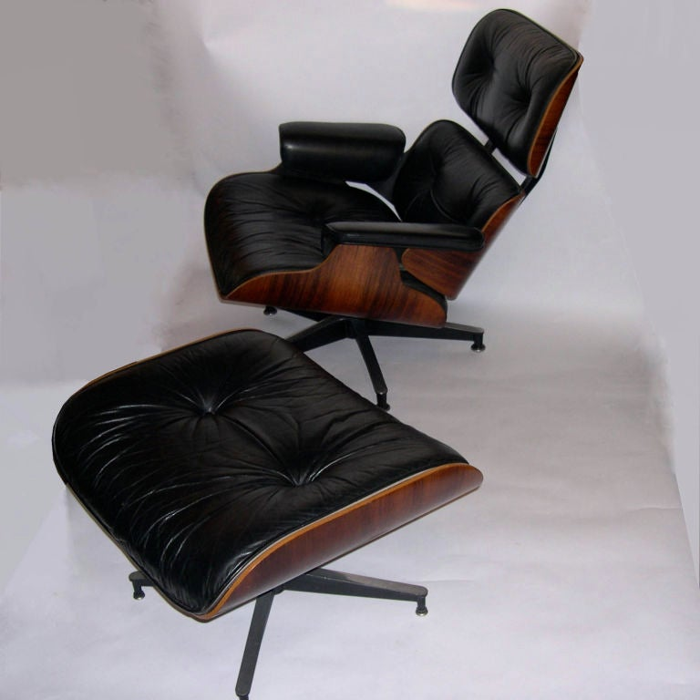 original eames 670 lounge chair and 671 ottoman in black