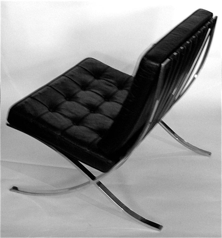 this pair of original mies van der rohe knoll barcelona chairs w tags. Black Bedroom Furniture Sets. Home Design Ideas