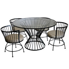 Outstanding  Game or Dinette Table w/ Swivel Chairs by Salterini