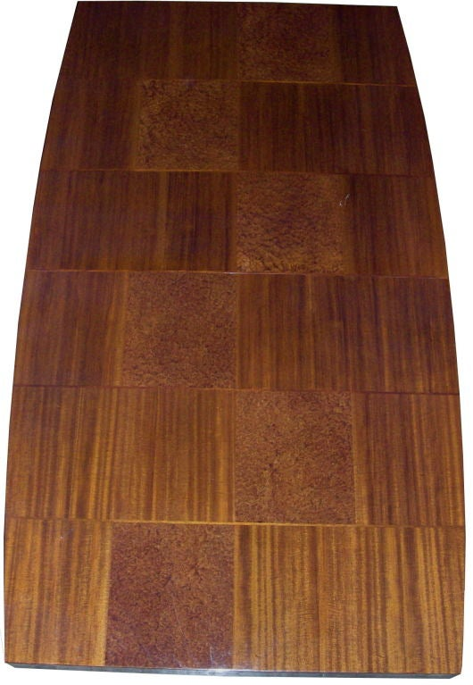 Rare Gilbert Rohde Quot Checkerboard Quot Inlaid Wood Dining Table
