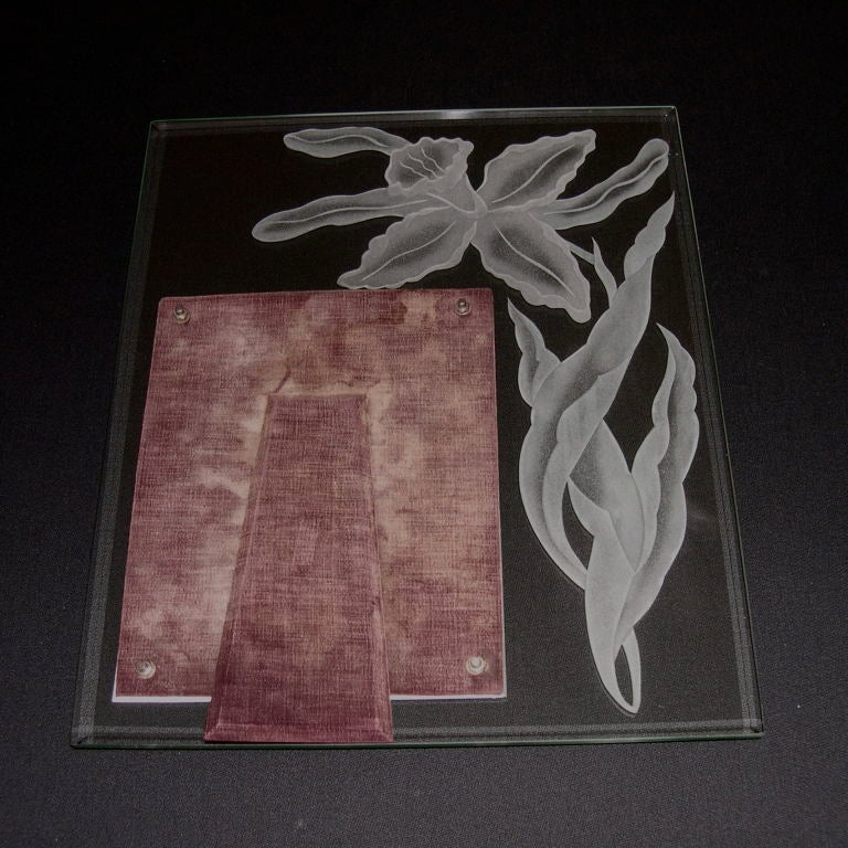 grand scale etched and beveled glass frame for sale at 1stdibs