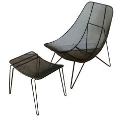 Very Rare Sol Bloom Chair and Ottoman