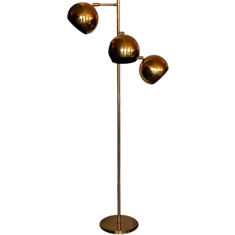 quality 70 s brass globe reading lamp at 1stdibs