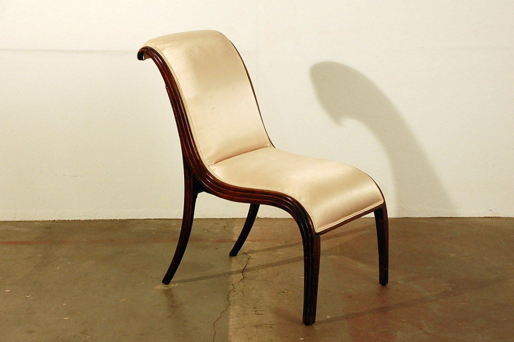 Elegant Art Deco side chair 2