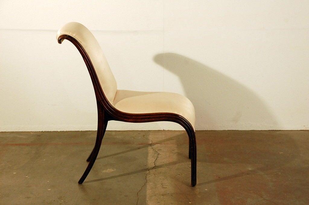 Elegant Art Deco side chair 3