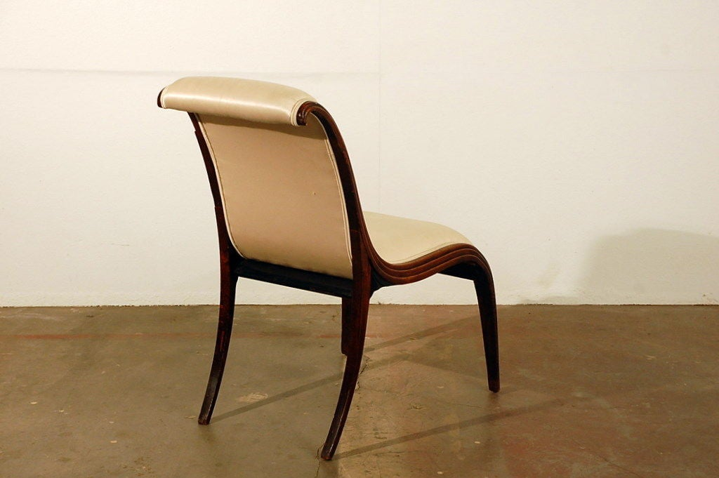 Elegant Art Deco side chair 4
