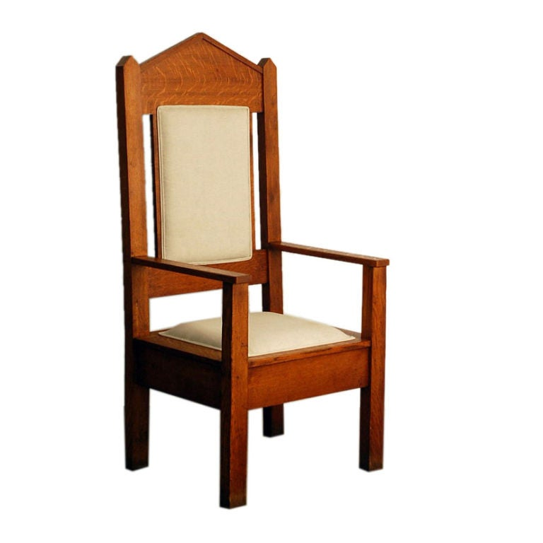 Impressive Oversized Arts And Crafts Oak Armchair At 1stdibs