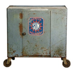 Coolest Industrial Bar Cart on Wheels