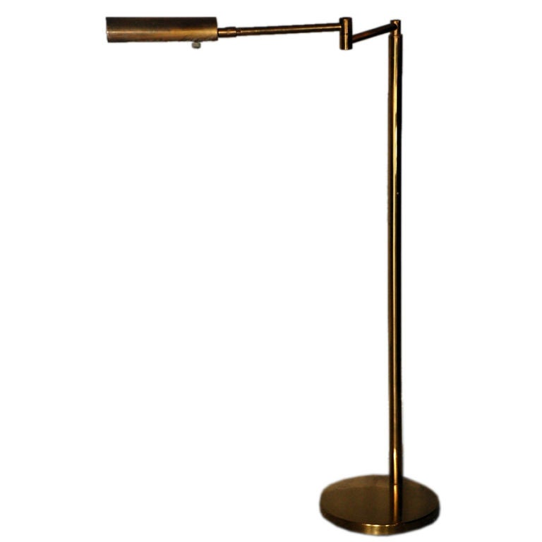 Classic extendable brass reading lamp by kock lowy at for Classic floor reading lamp