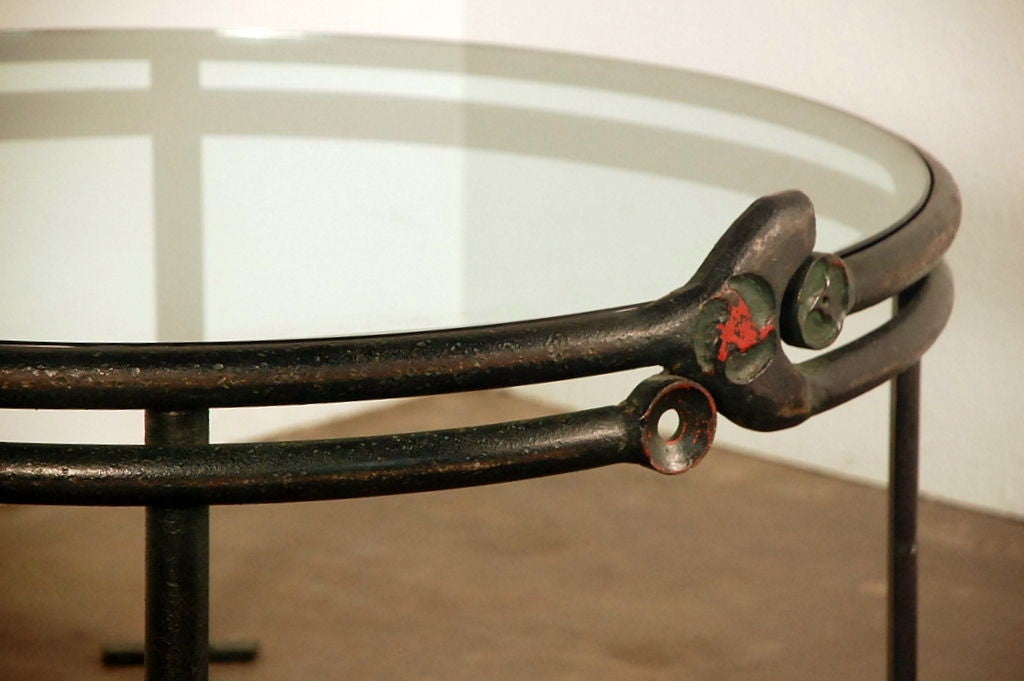 one of a kind wrought iron round coffee table at 1stdibs