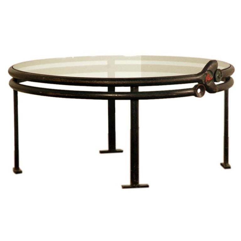 Xxx 8184 1266295418 for Round glass top coffee table wrought iron