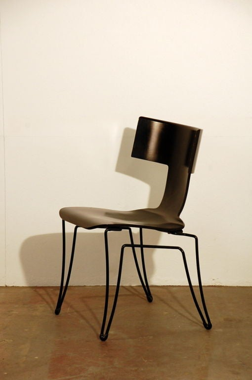 Pair Of Classic Klismos Chairs By John Hutton For Donghia