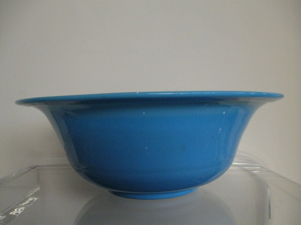BLUE OPALINE GLASS BOWL image 2