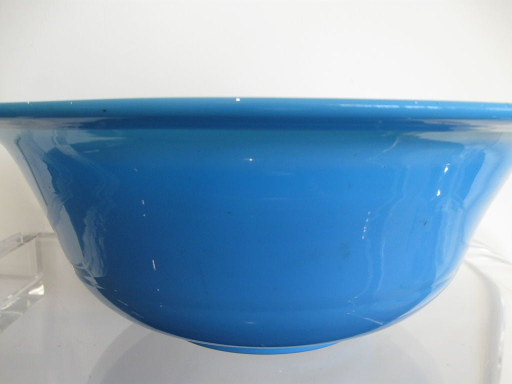 BLUE OPALINE GLASS BOWL image 3