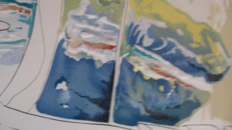 "Late 20th Century "" BLUE UNICORN"" LITHOGRAPH BY SALVADOR DALI For Sale"