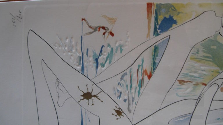 """ BLUE UNICORN"" LITHOGRAPH BY SALVADOR DALI For Sale 1"