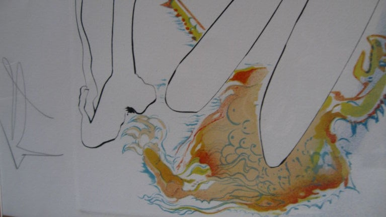 """ BLUE UNICORN"" LITHOGRAPH BY SALVADOR DALI For Sale 2"