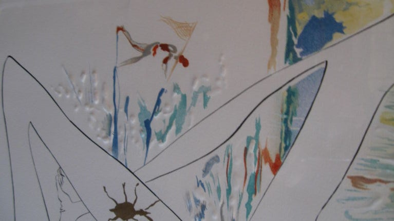 """ BLUE UNICORN"" LITHOGRAPH BY SALVADOR DALI For Sale 4"