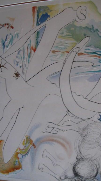 """ BLUE UNICORN"" LITHOGRAPH BY SALVADOR DALI For Sale 5"