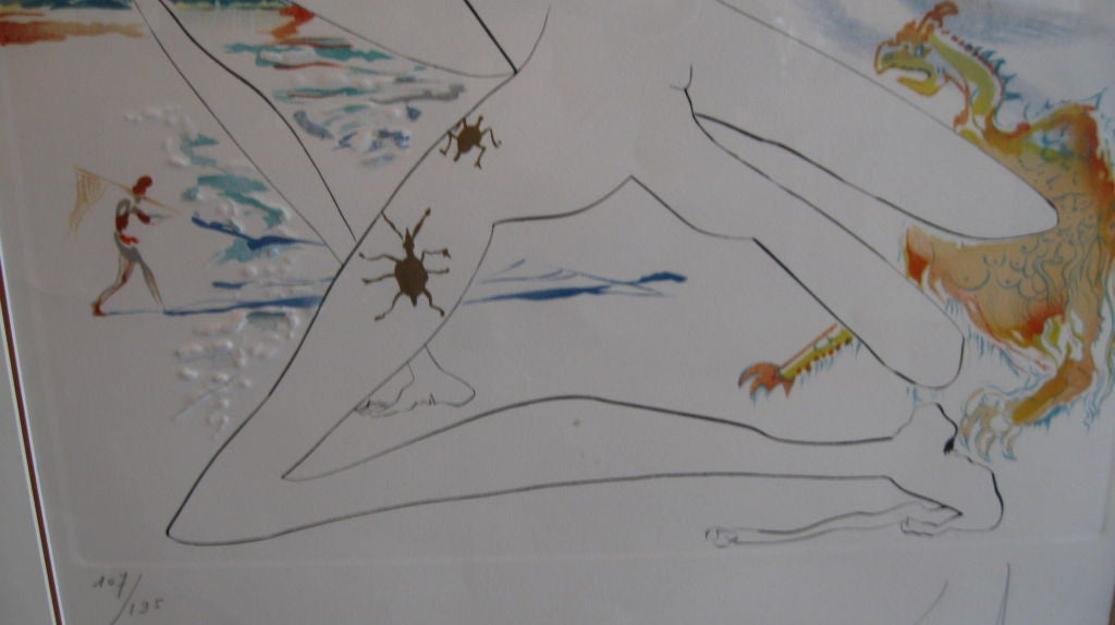 """ BLUE UNICORN"" LITHOGRAPH BY SALVADOR DALI For Sale 6"