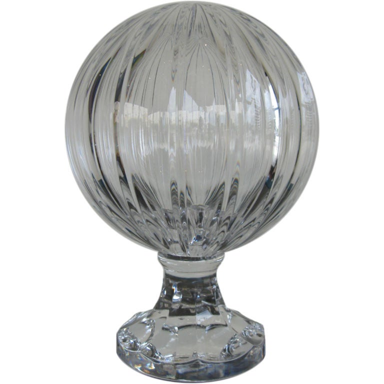 CUT CRYSTAL CLEAR BANNISTER BALL At 1stdibs