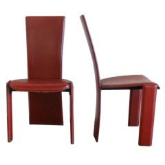 Pair of Occasional Leather Side Chairs