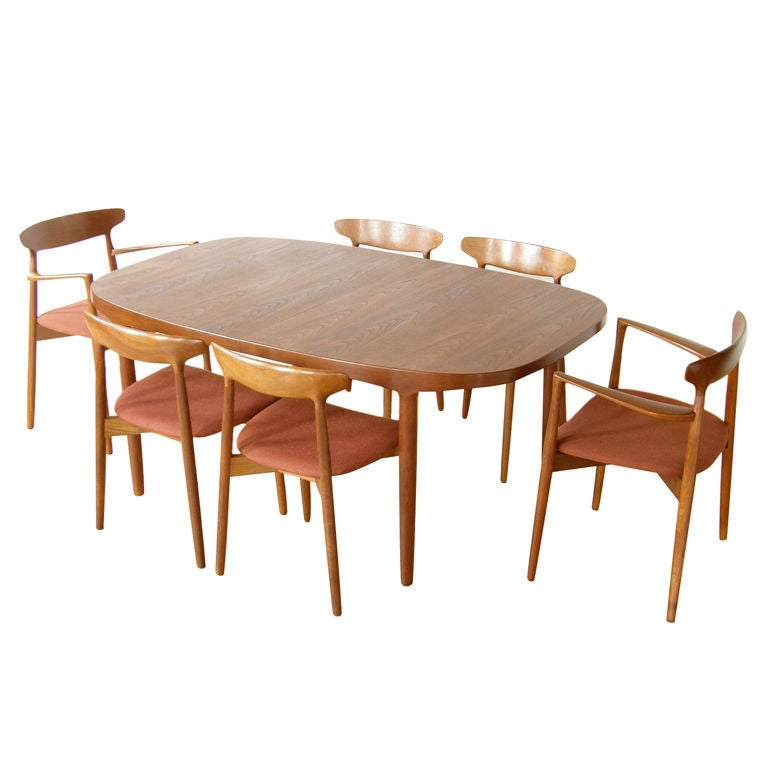 teak dining set at 1stdibs. Black Bedroom Furniture Sets. Home Design Ideas