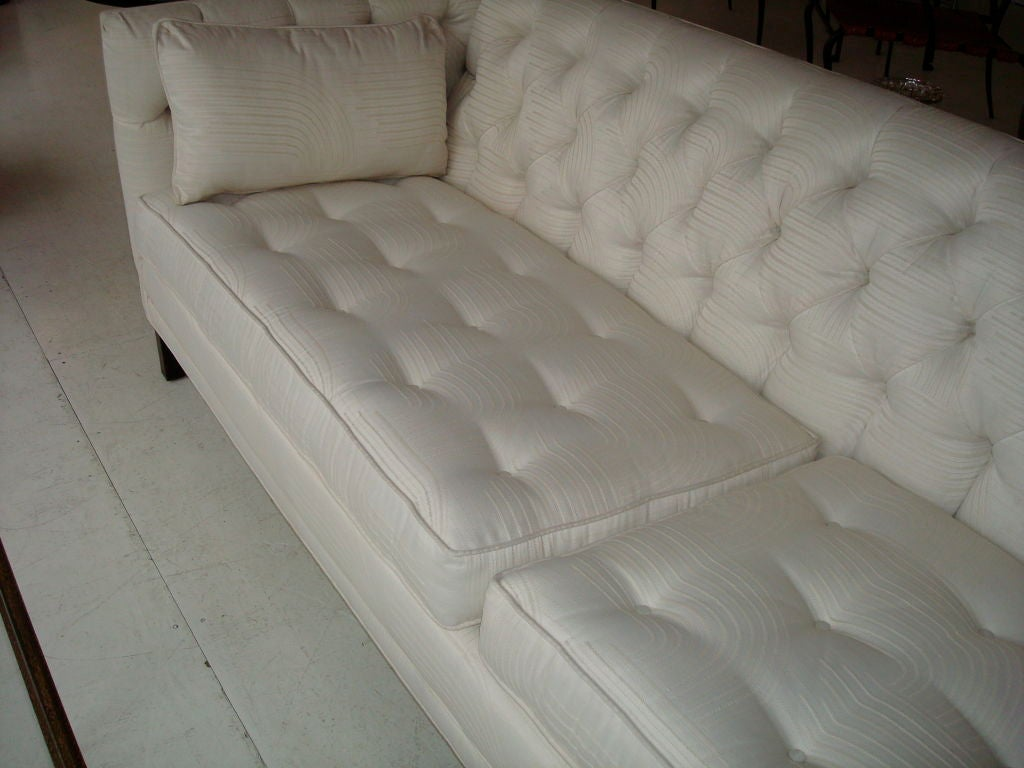 Tufted elegant tuxedo style 8 ft long chic sofa at 1stdibs for 8 foot couch