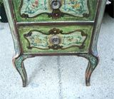 Louis XV Continental Diminutive Painted Marble-Top Chest For Sale