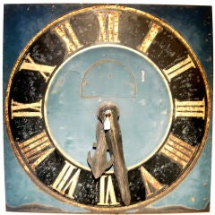 ENGLISH TOLE CLOCK FACE OF MONUMENTAL PROPORTIONS