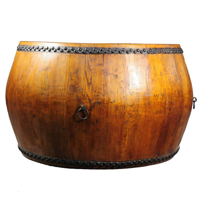 Chinese Drum Coffee Table: Monumental Chinese Opera Drum At 1stdibs