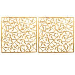 Pair of Courtyard Lattice Panels