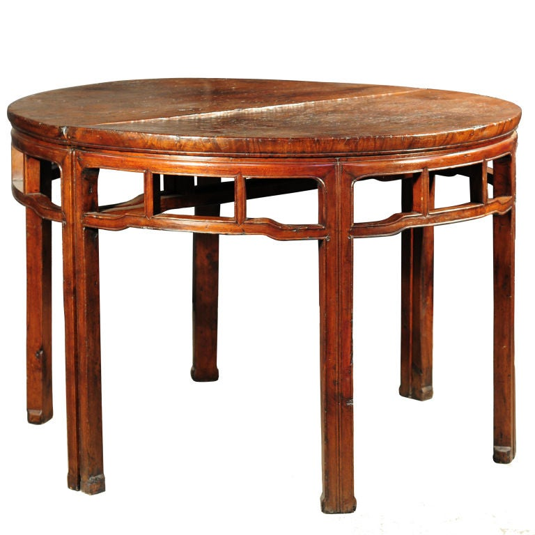 Pair of demi lune tables at 1stdibs - Table cuisine demi lune ...