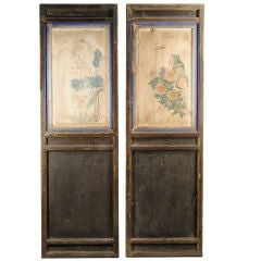 Pair of Painted Panels