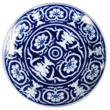 Set of 18 Blue and White Silk Road Dinner Plates