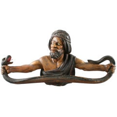 Carved Moses with  Cobra