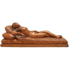Odalisque 19th Century Carved Wood