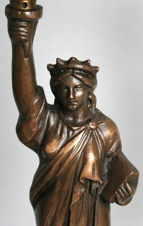 Statue Of Liberty Lamp With Original Shade At 1stdibs