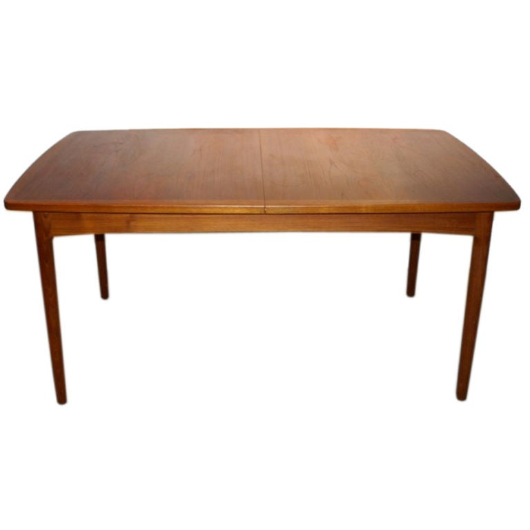 teak h w klein for bramin dining table with 2 leaves at 1stdibs